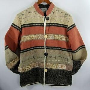 Flashback Boho Jacket Quilted Blazer Pockets